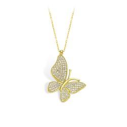 Altın Kelebek Kolye