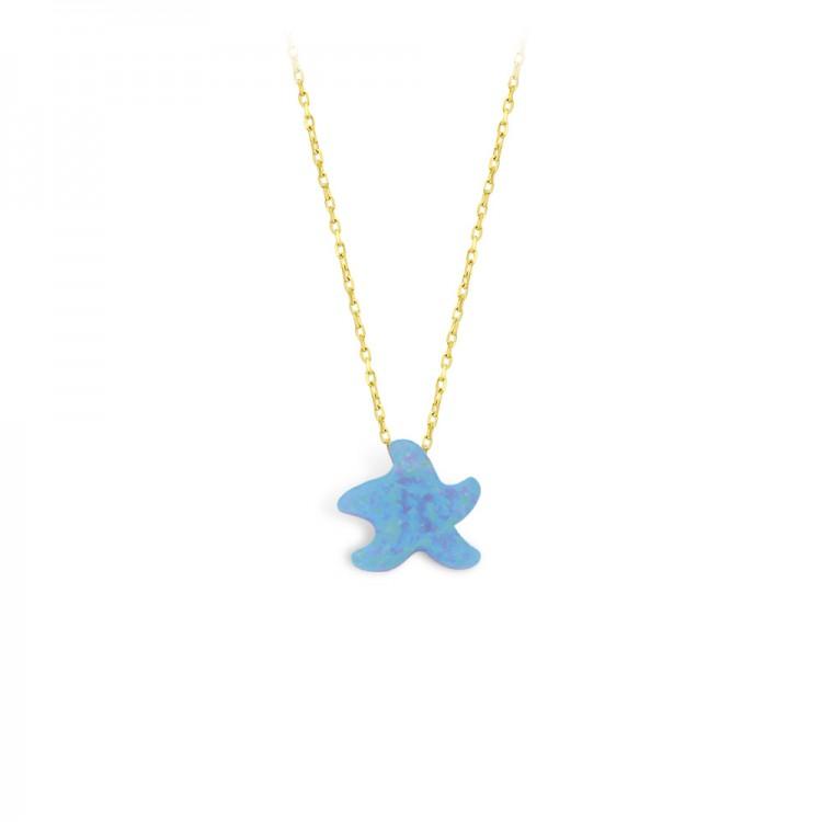 Altın Opal Deniz Yıldızı Kolye