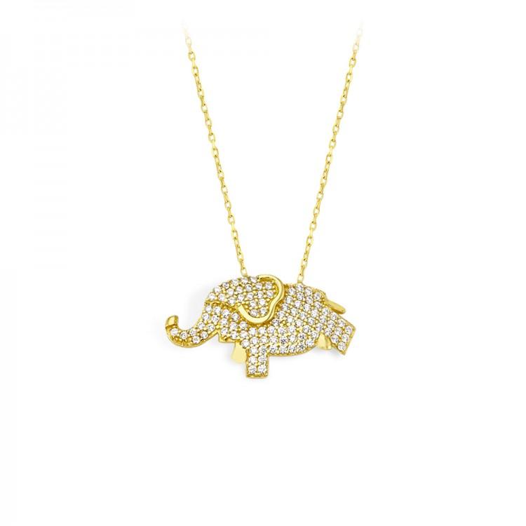 Altın Fil Kolye