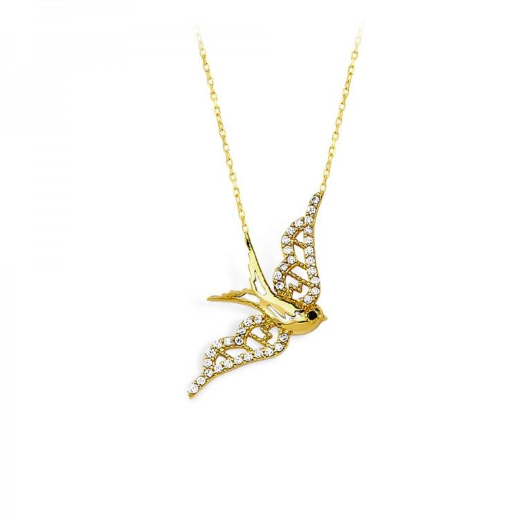 Altın Güvercin Kolye
