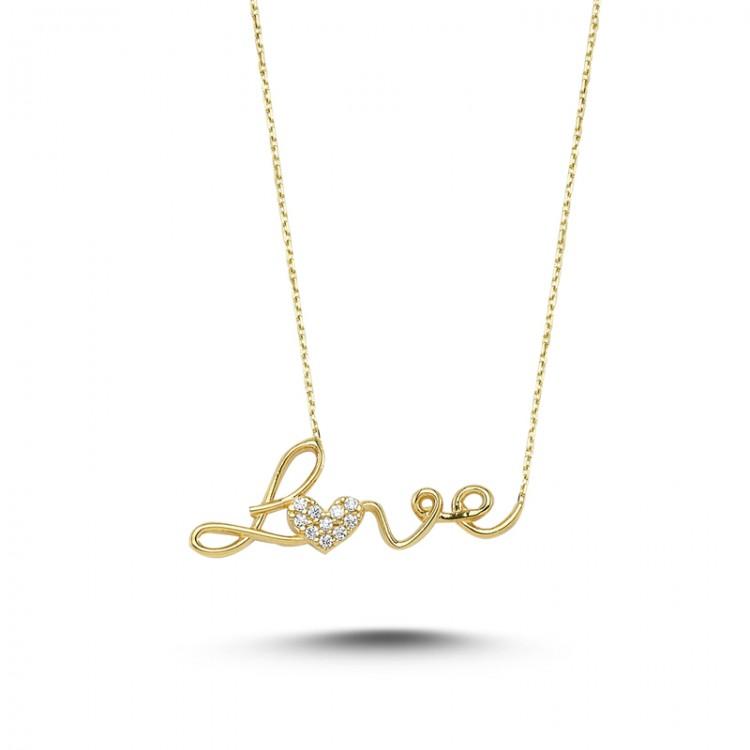 Altın Love Kolye