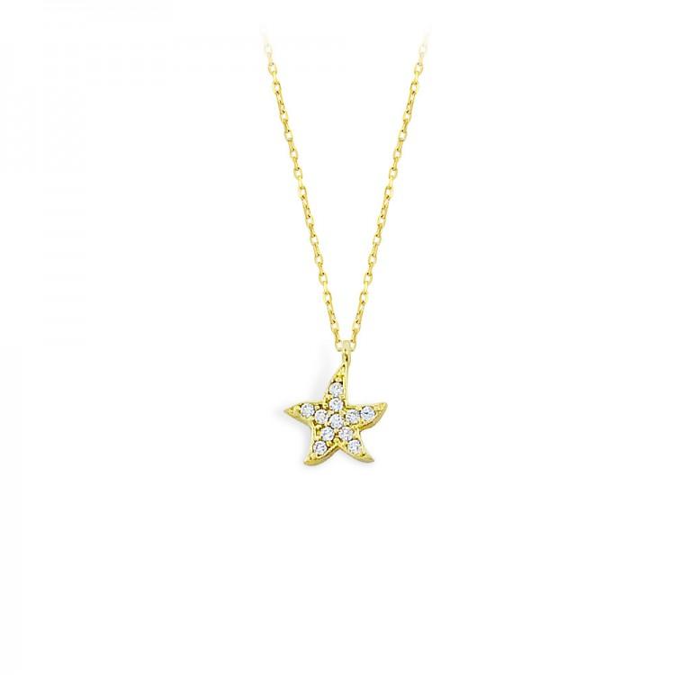 Altın Yıldız Şans Figürü Kolye