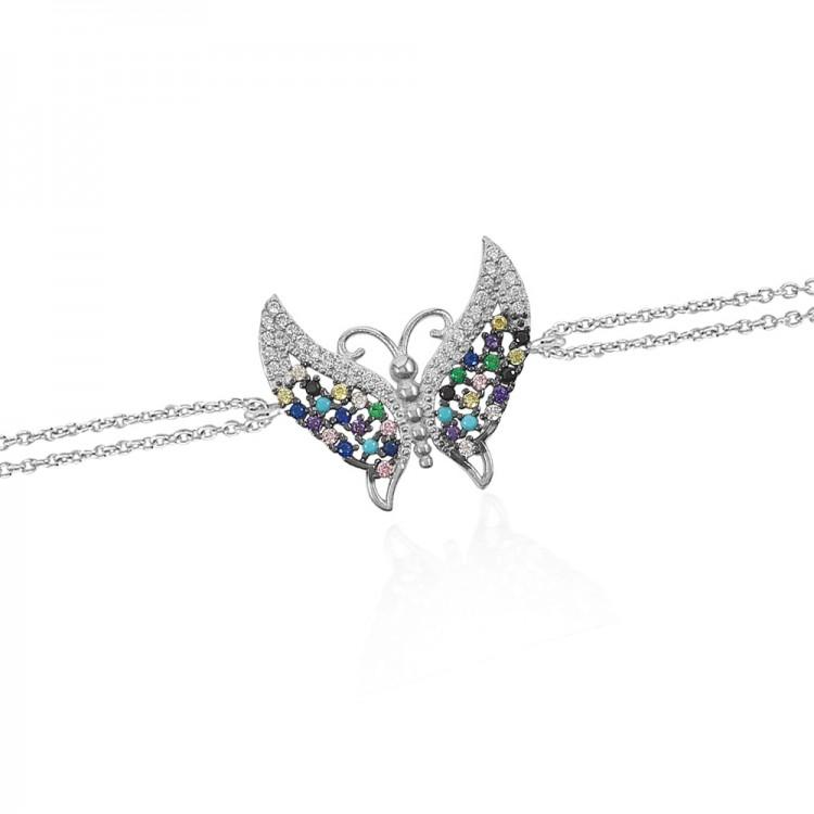 Gümüş Kelebek Bileklik