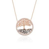 Gümüş Hayat Ağacı Kolye