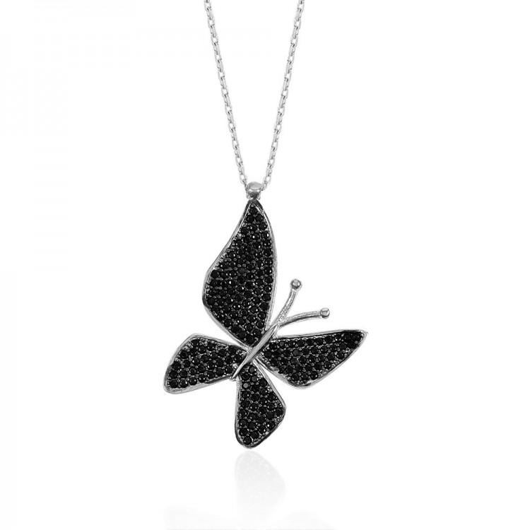 Gümüş Kelebek Kolye