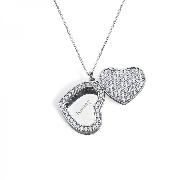 Gümüş İsimli Kalp Kolye