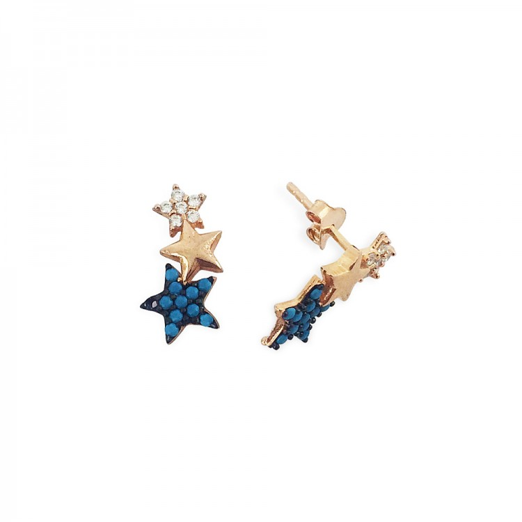 Gümüş Yıldız Küpe