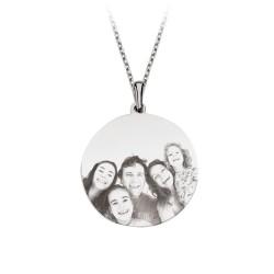 Gümüş Aile Fotoğrafı Kolye